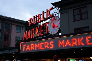 Public Fish Market in Downtown Seattle, Washington