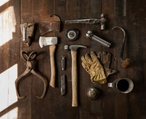 Tools used by a Trim Carpenter.